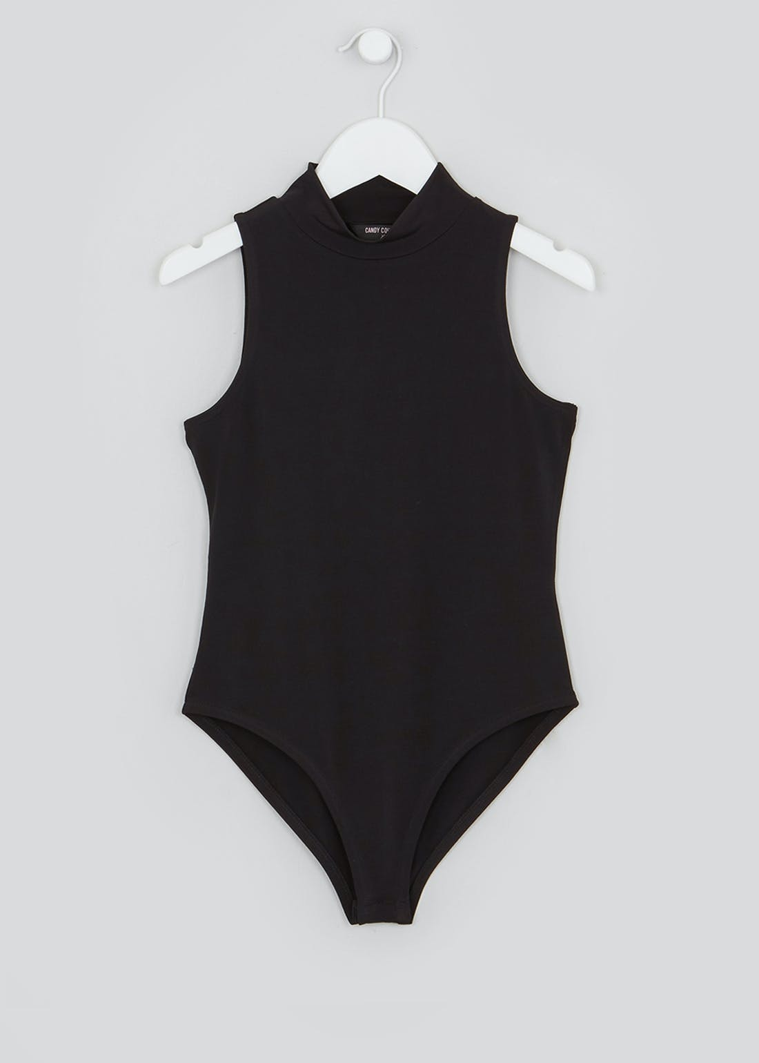 Girls Candy Couture Black Sleeveless Bodysuit (9-16yrs)