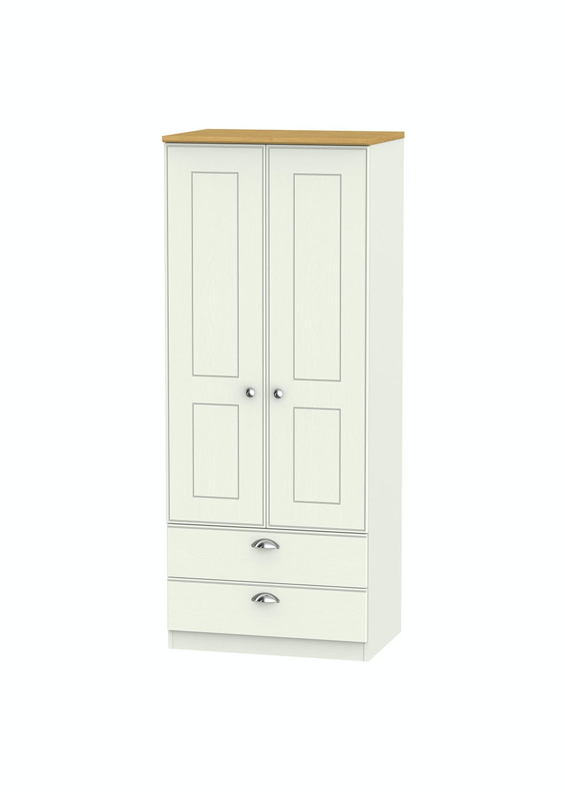Swift Stamford 2 Door 2 Drawer Wardrobe (182.5cm x 74cm x 53cm)