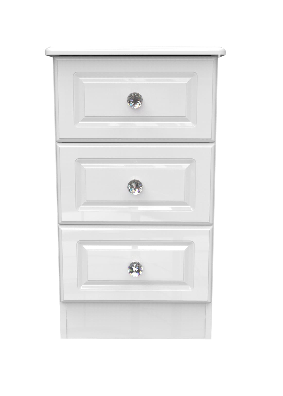 Swift Marlborough 3 Drawer Bedside Table (69.5cm x 39.5cm x 41.5cm)