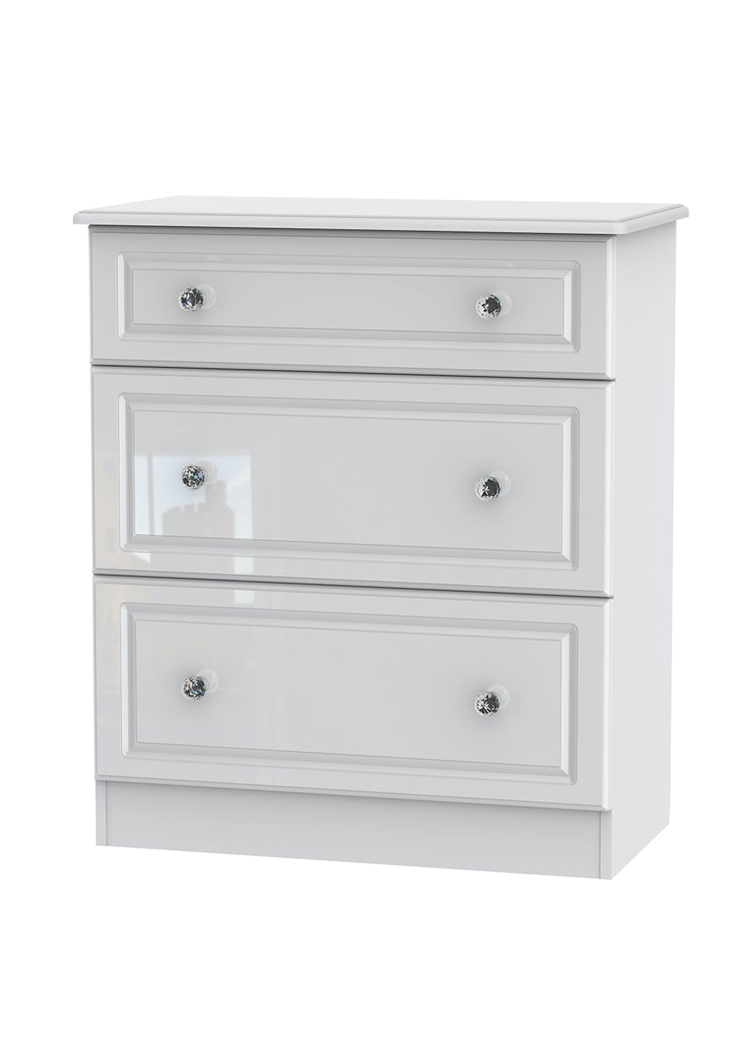 Swift Marlborough 3 Drawer Deep Chest (88.5cm x 76.5cm x 41.5cm)