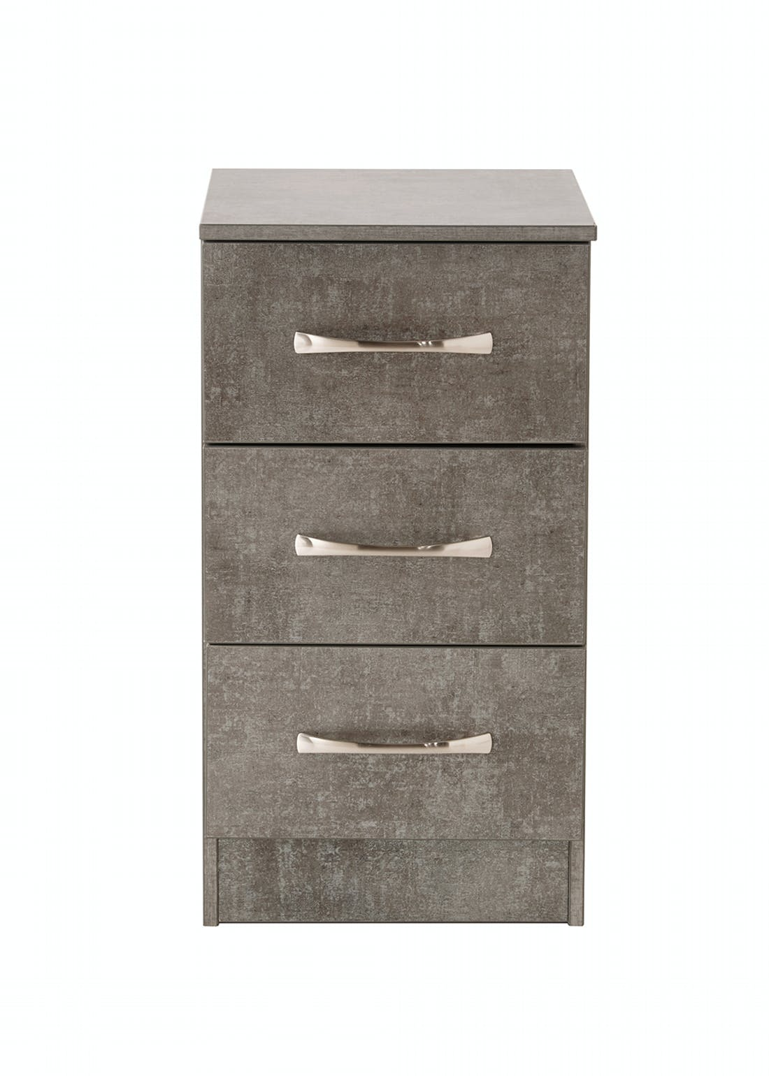 Swift Roma 3 Drawer Bedside Table (69.5cm x 39.5cm x 41.5cm)
