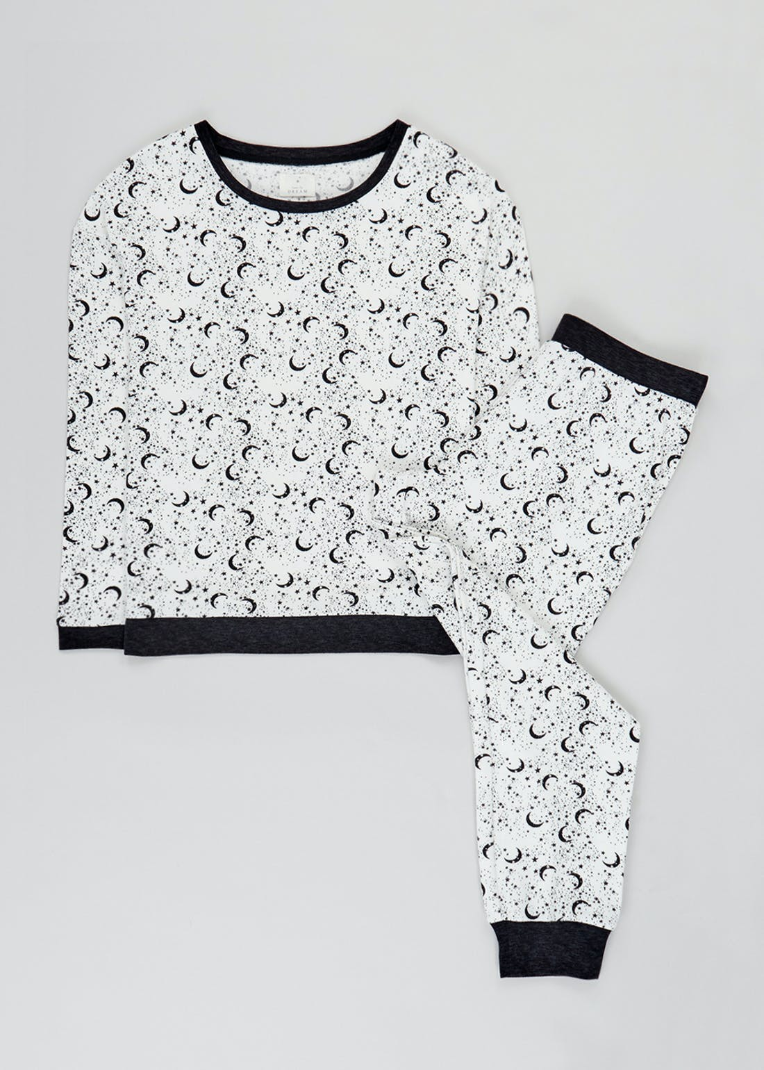 Star & Moon Print Pyjamas
