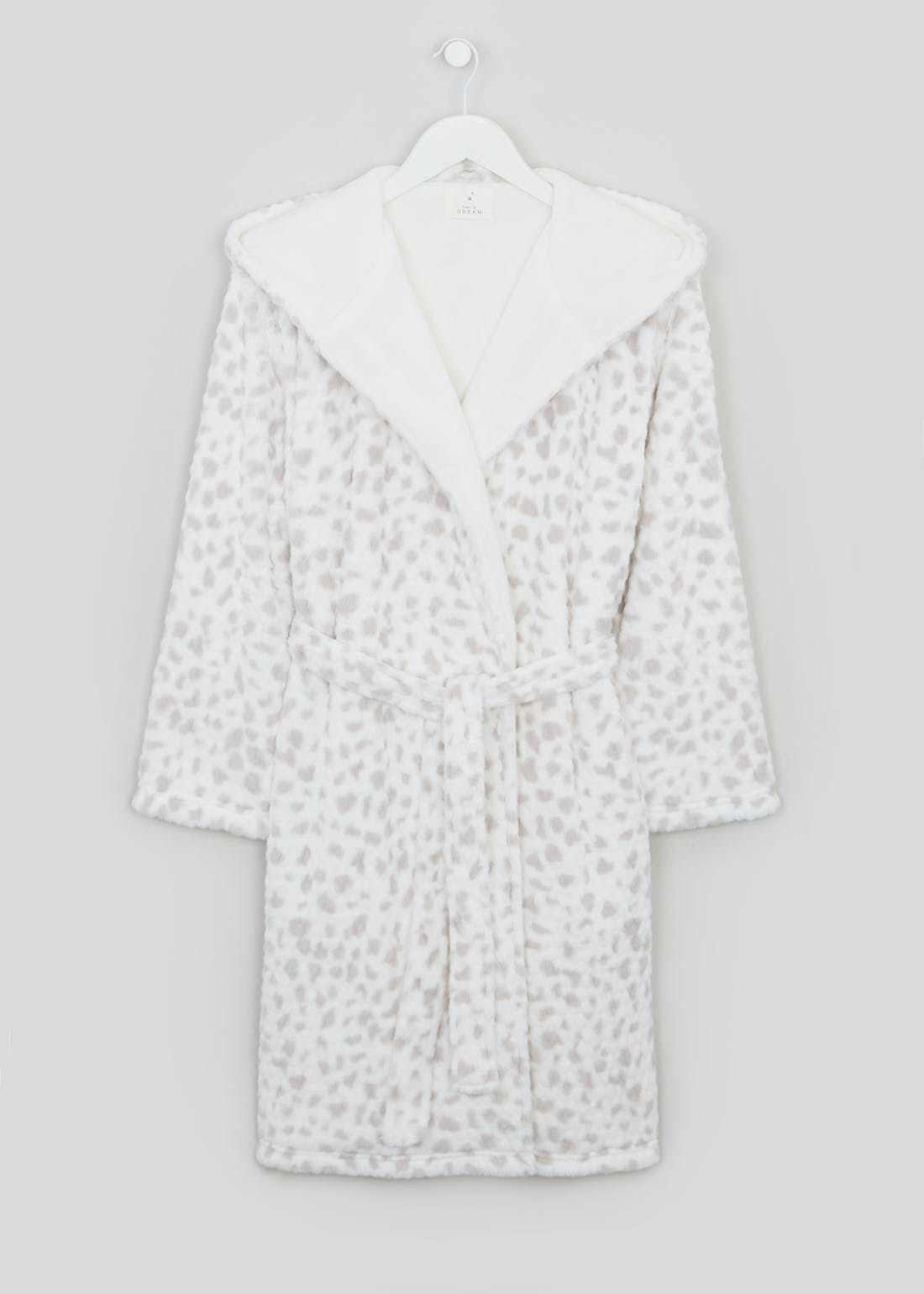 Animal Print Fleece Lined Dressing Gown