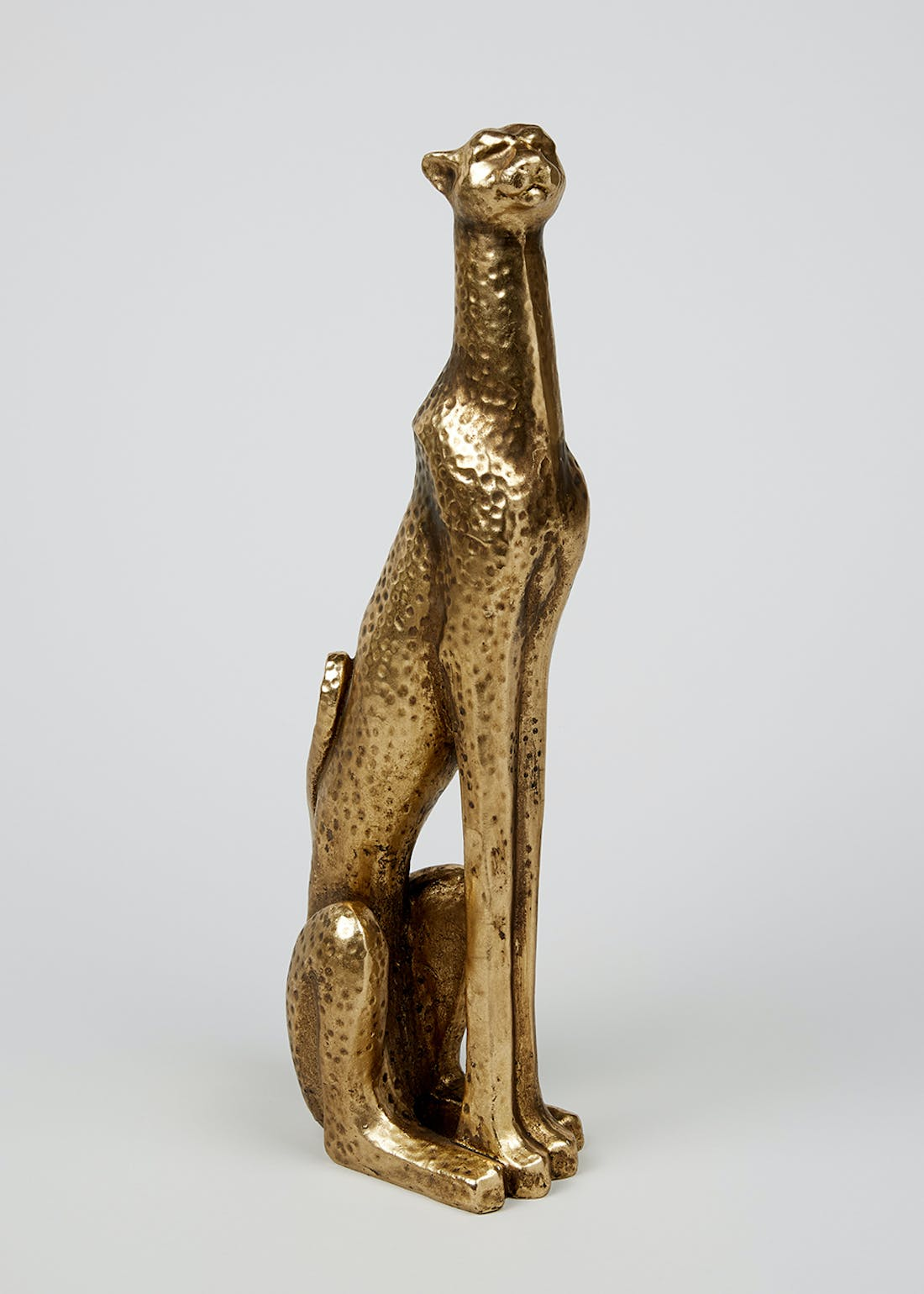 Tall Sitting Leopard Ornament (50cm x 16cm x 10cm)