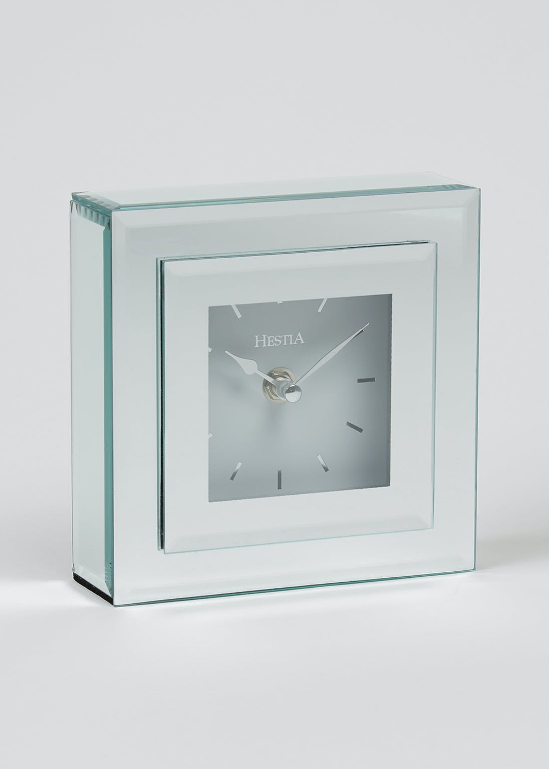 Mirrored Clock (15cm x 13cm x 5cm)