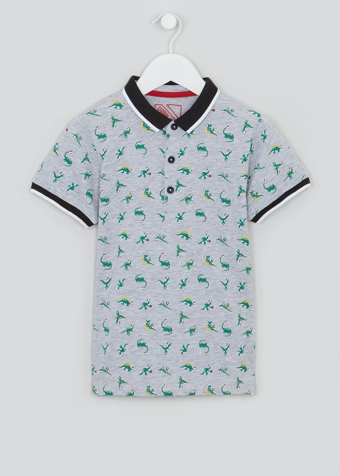 Boys Christmas Dinosaur Polo Shirt (4-13yrs)
