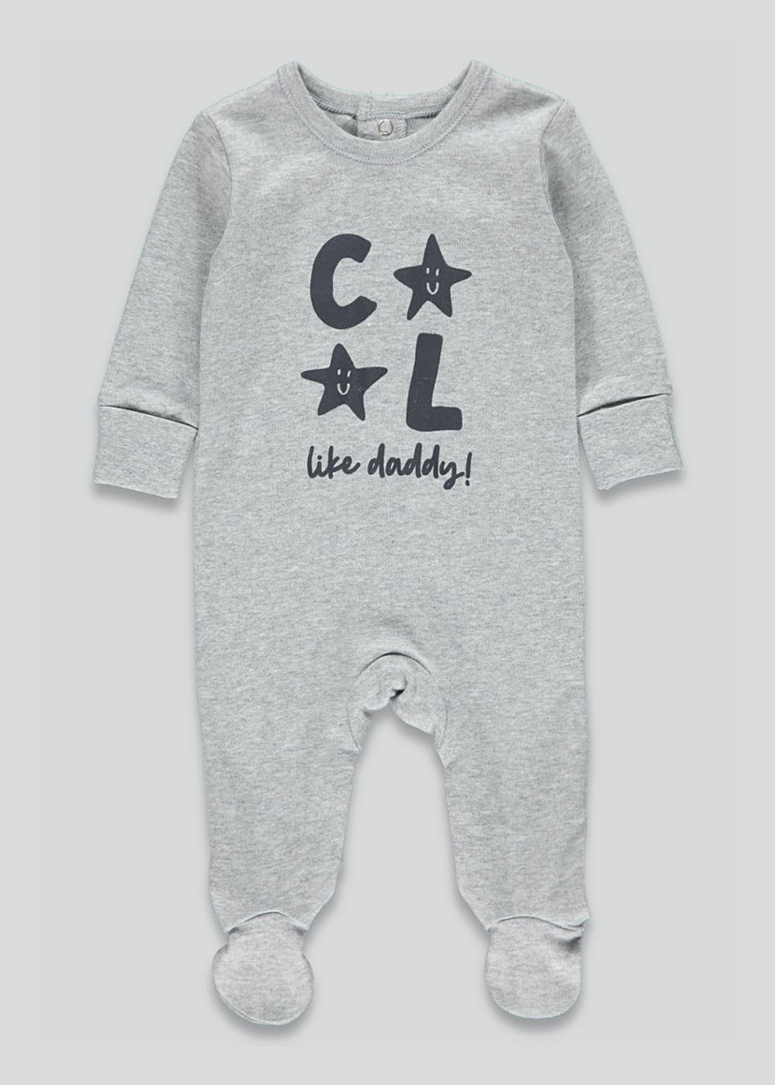 Unisex Cool Like Daddy Baby Grow (Tiny Baby-12mths)