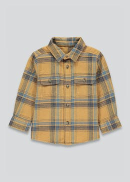 Boys Long Sleeve Brushed Check Shirt (9mths-6yrs)