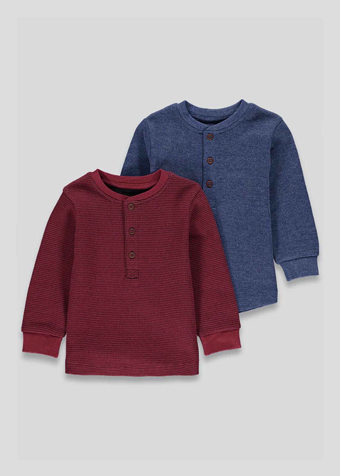 Boys 2 Pack Long Sleeve T-Shirts (9mths-6yrs)