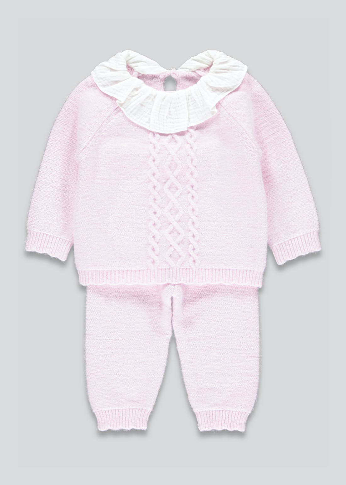 Girls Frill Collar Top & Leggings Set (Newborn-23mths)