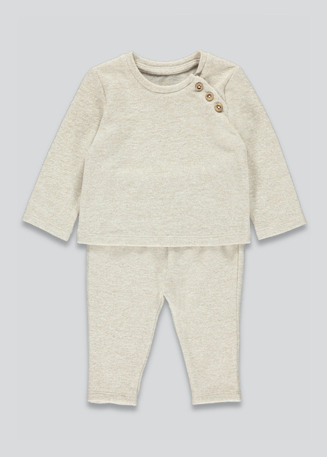 Unisex Button Top & Leggings Set (Newborn-23mths)