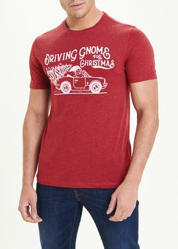 Driving Gnome For Christmas Novelty T-Shirt