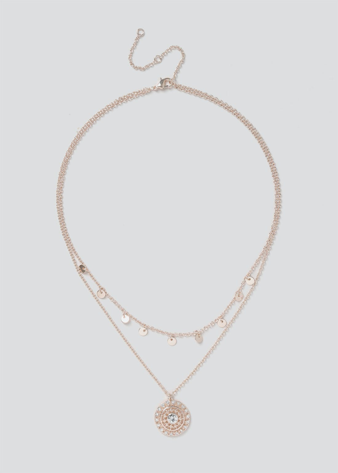 Cubic Zirconia Charm Filli Necklace
