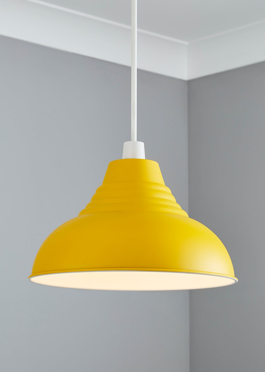 Metal Dome Easy Fit Lampshade (H17cm x W30cm)