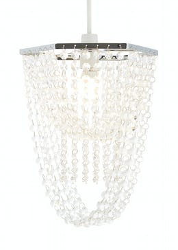 Acrylic Beaded Easy Fit Lamp Shade (H32cm x W26cm x D22cm)