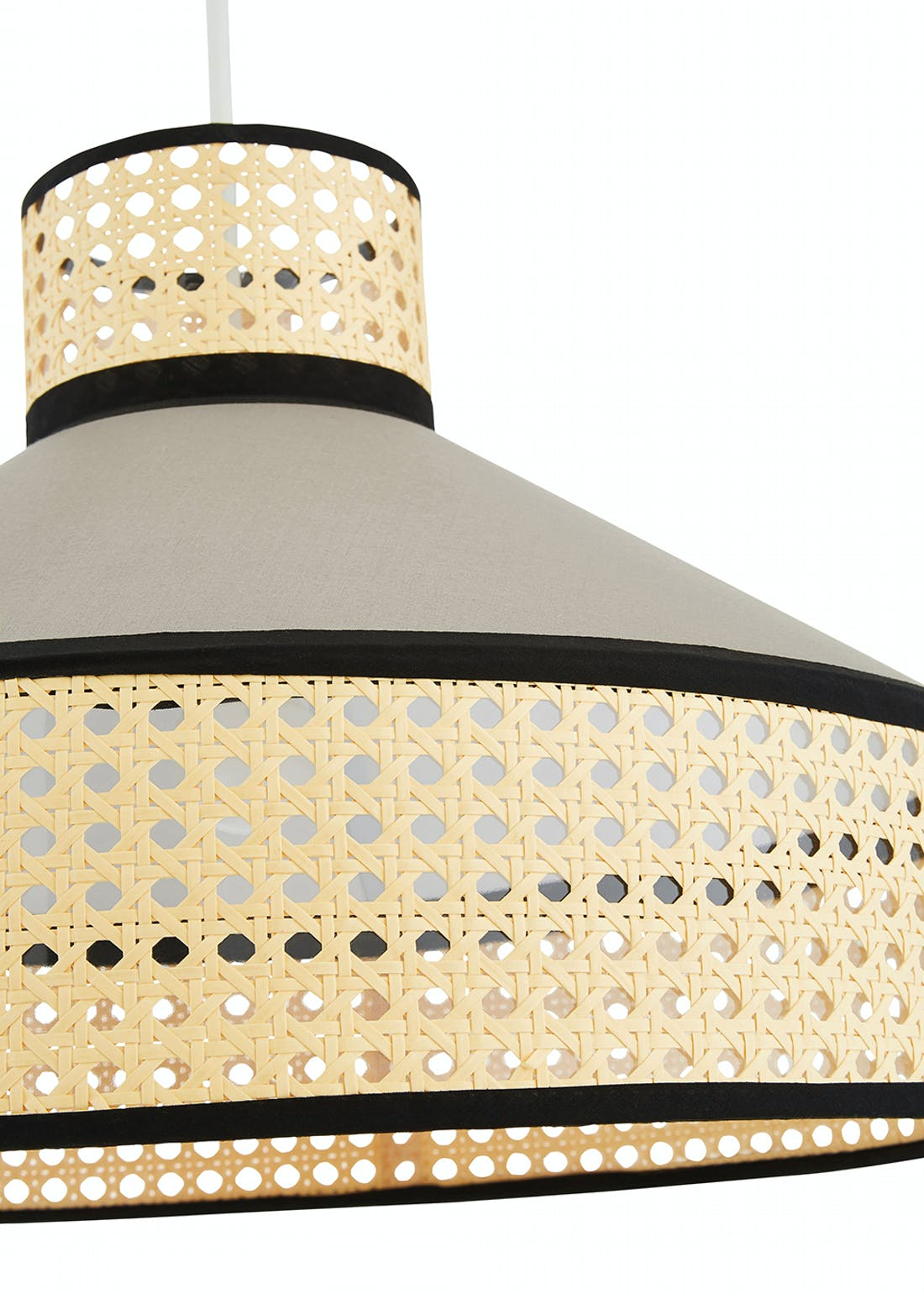 Rattan Easy Fit Lampshade (H31.5cm x W44cm)