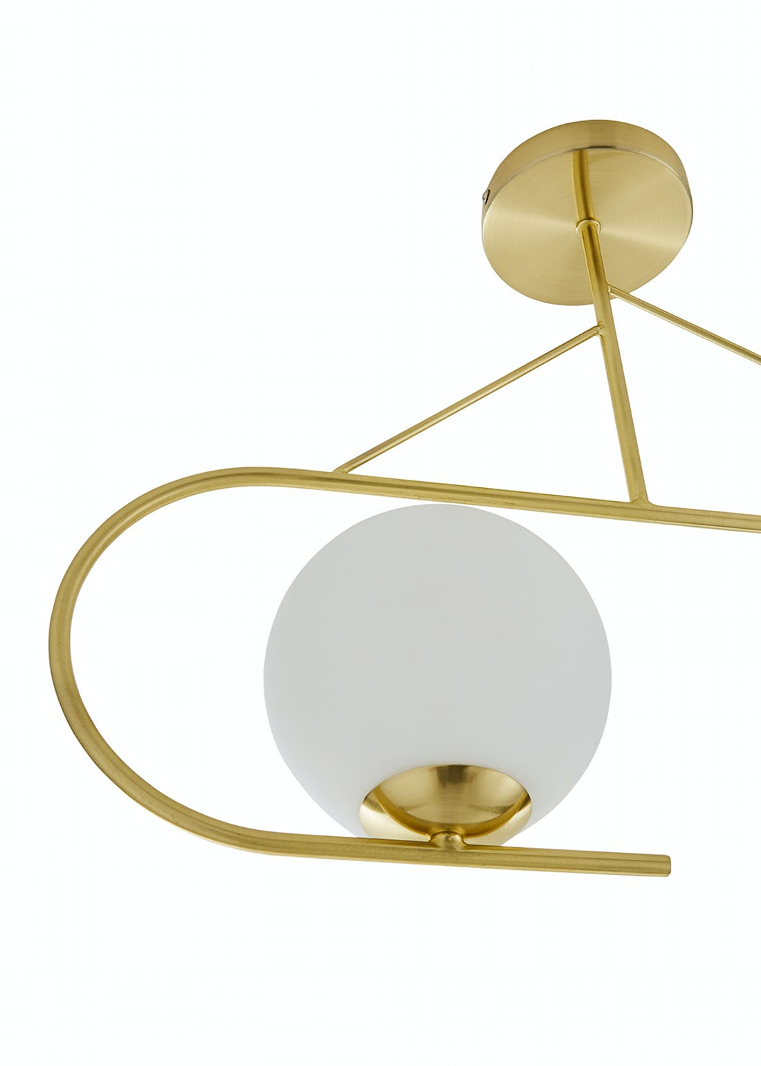 Balanced Bar Pendant Brass Ceiling Light (62cm x 35cm x 15cm)