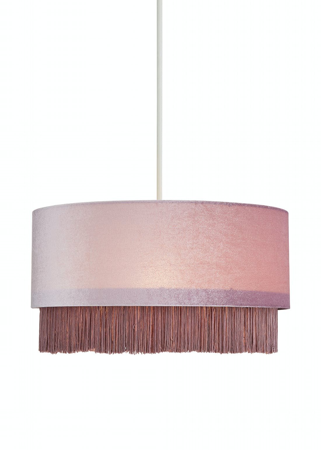 Fringed Easy Fit Lamp Shade (H19cm x W38cm)