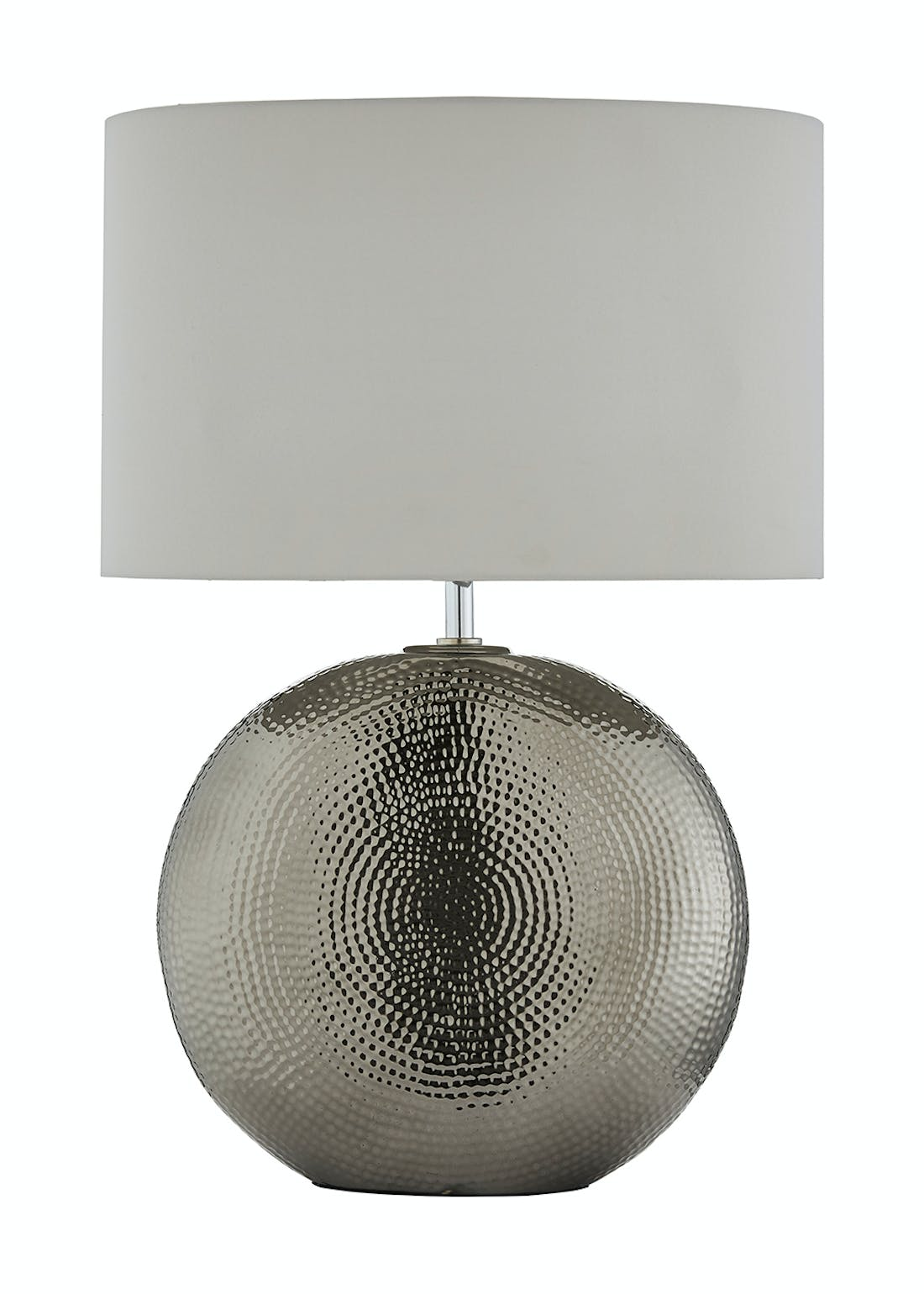 Hammered Base Table Lamp (H58 x W23cm x D40cm)