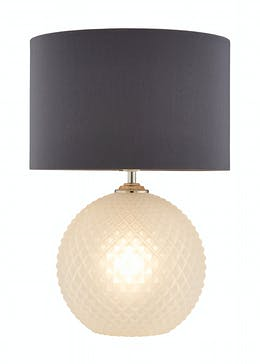 Textured Light-Up Base Table Lamp (H47cm x W33cm)