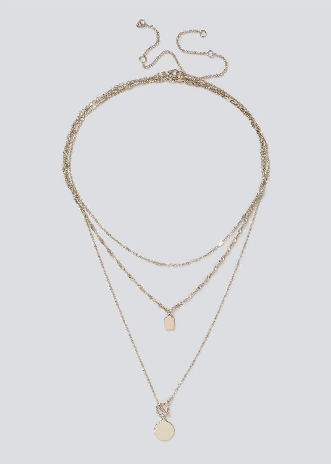 Multi Row Layer Chain Necklace