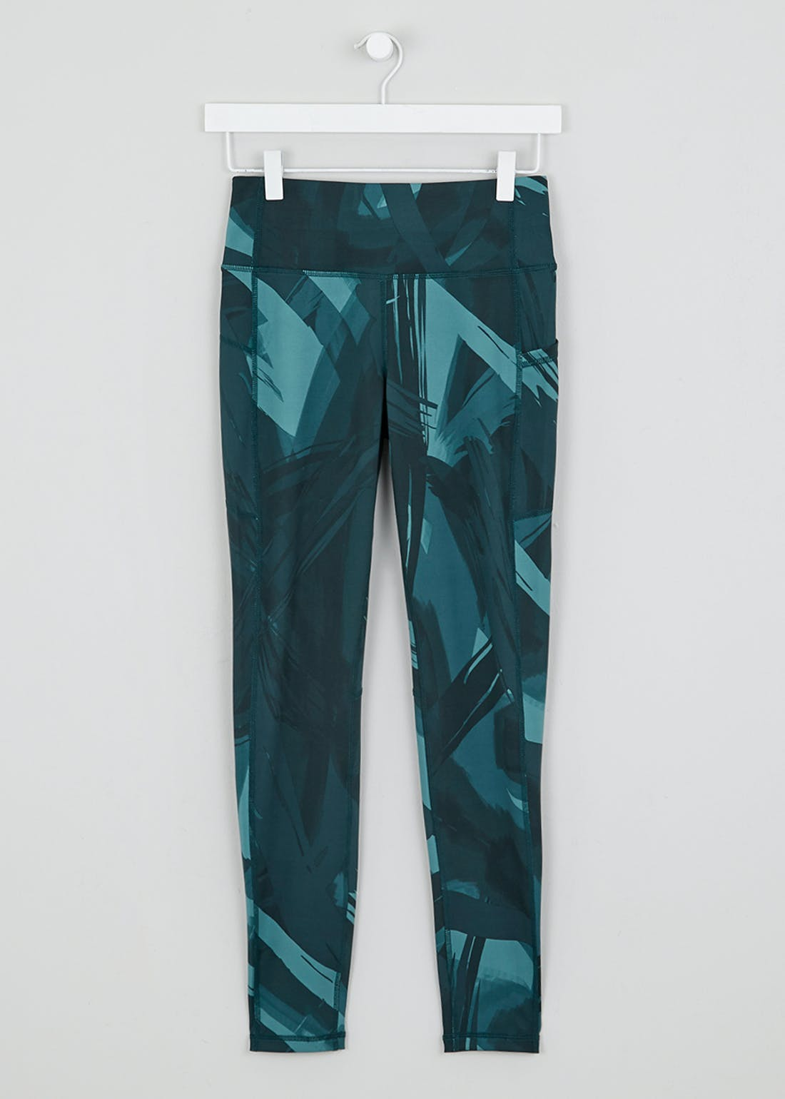 Souluxe Teal Brush Stroke Gym Leggings