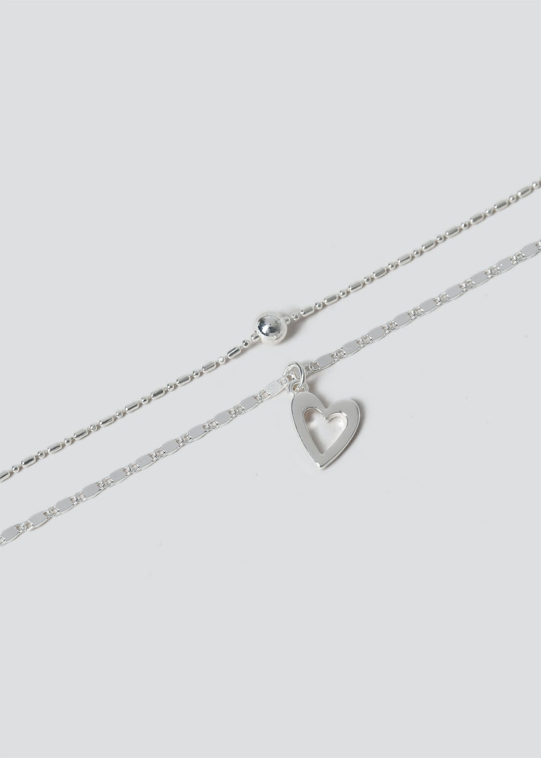 Double Row Heart Necklace