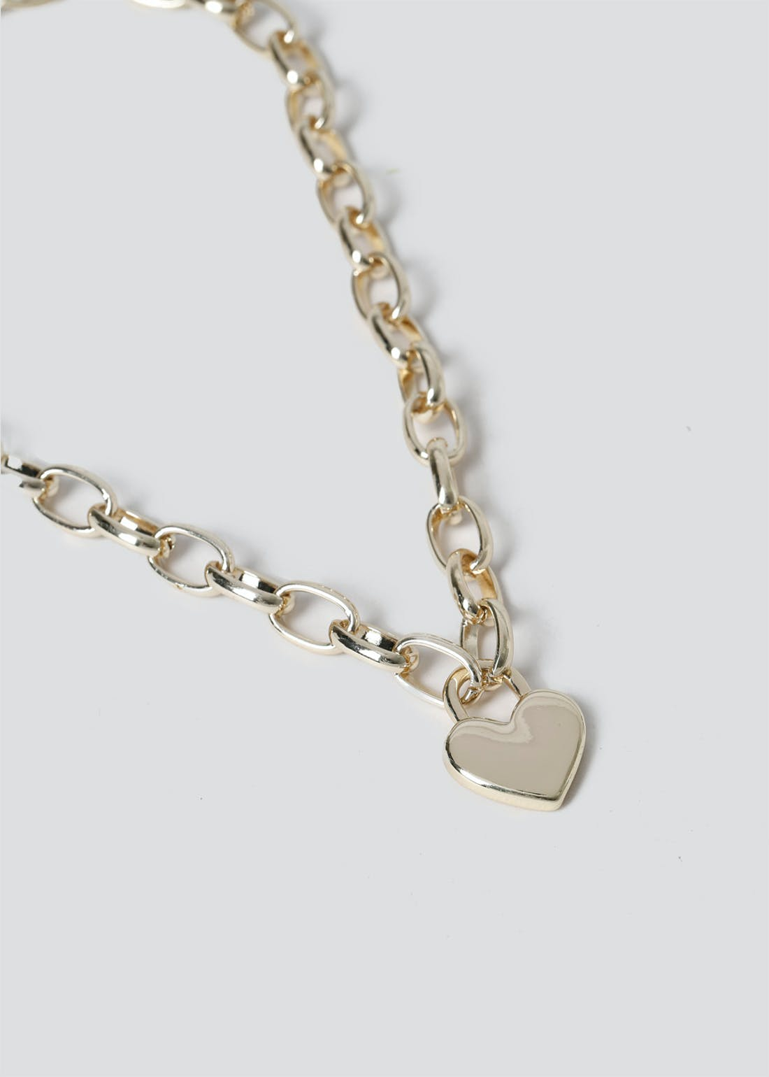 Chunky Heart Chain Necklace