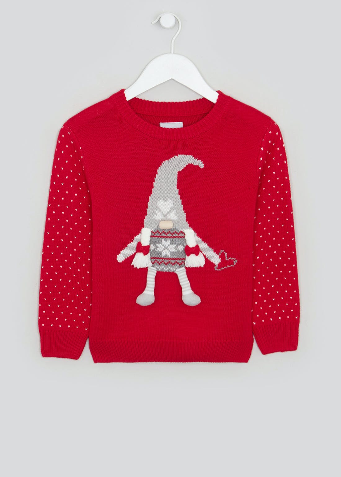 Girls Gnome Christmas Jumper (4-13yrs)