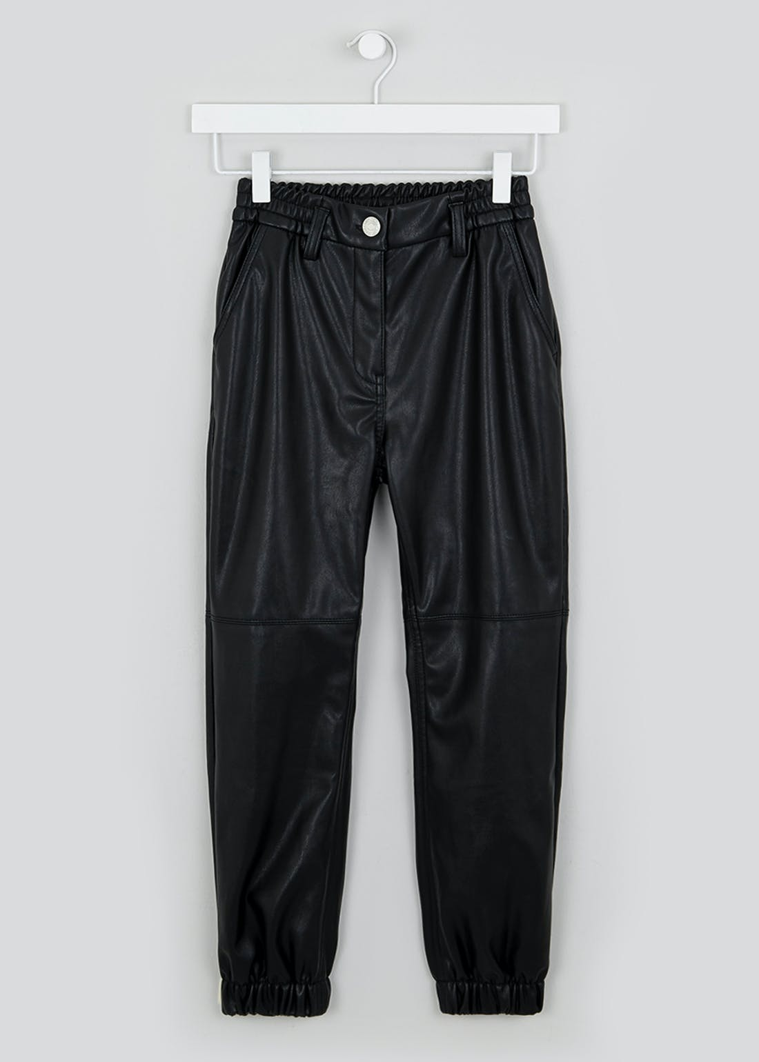 Girls Candy Couture Leather Look Joggers (9-16yrs)
