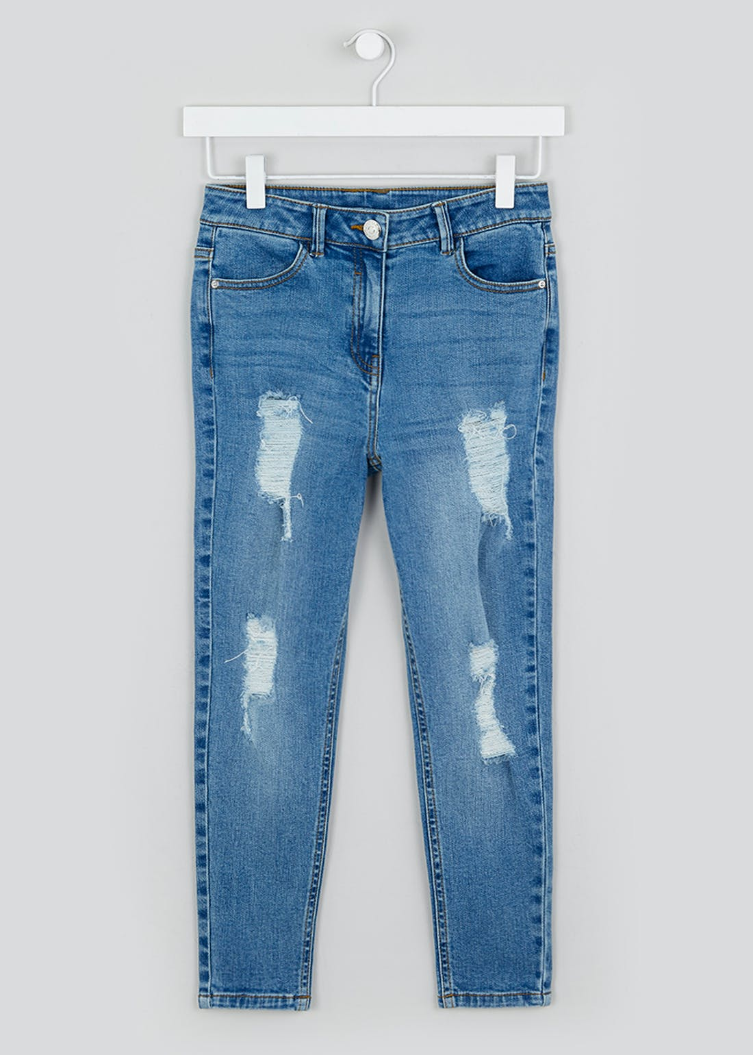 Girls Candy Couture Midwash Skinny Jeans (9-16yrs)