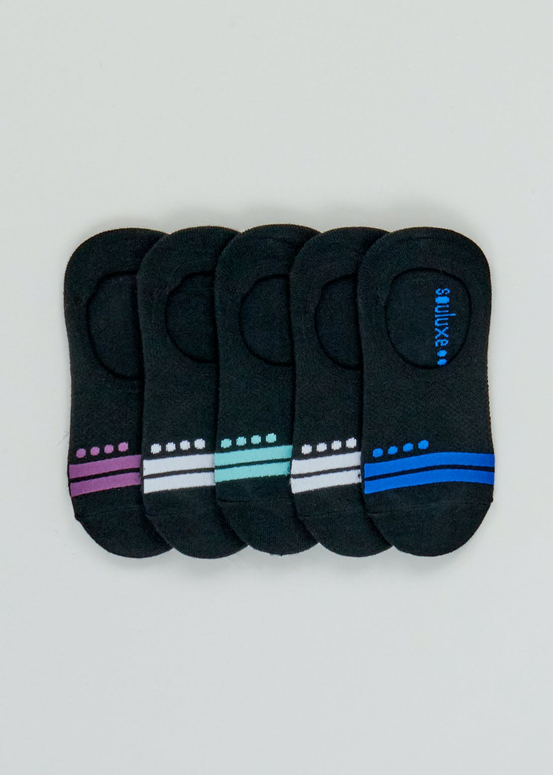 Souluxe 5 Pack Invisible Sports Socks