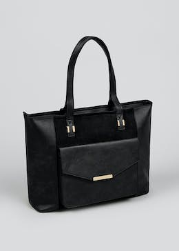 Leather Look PU Tote Bag