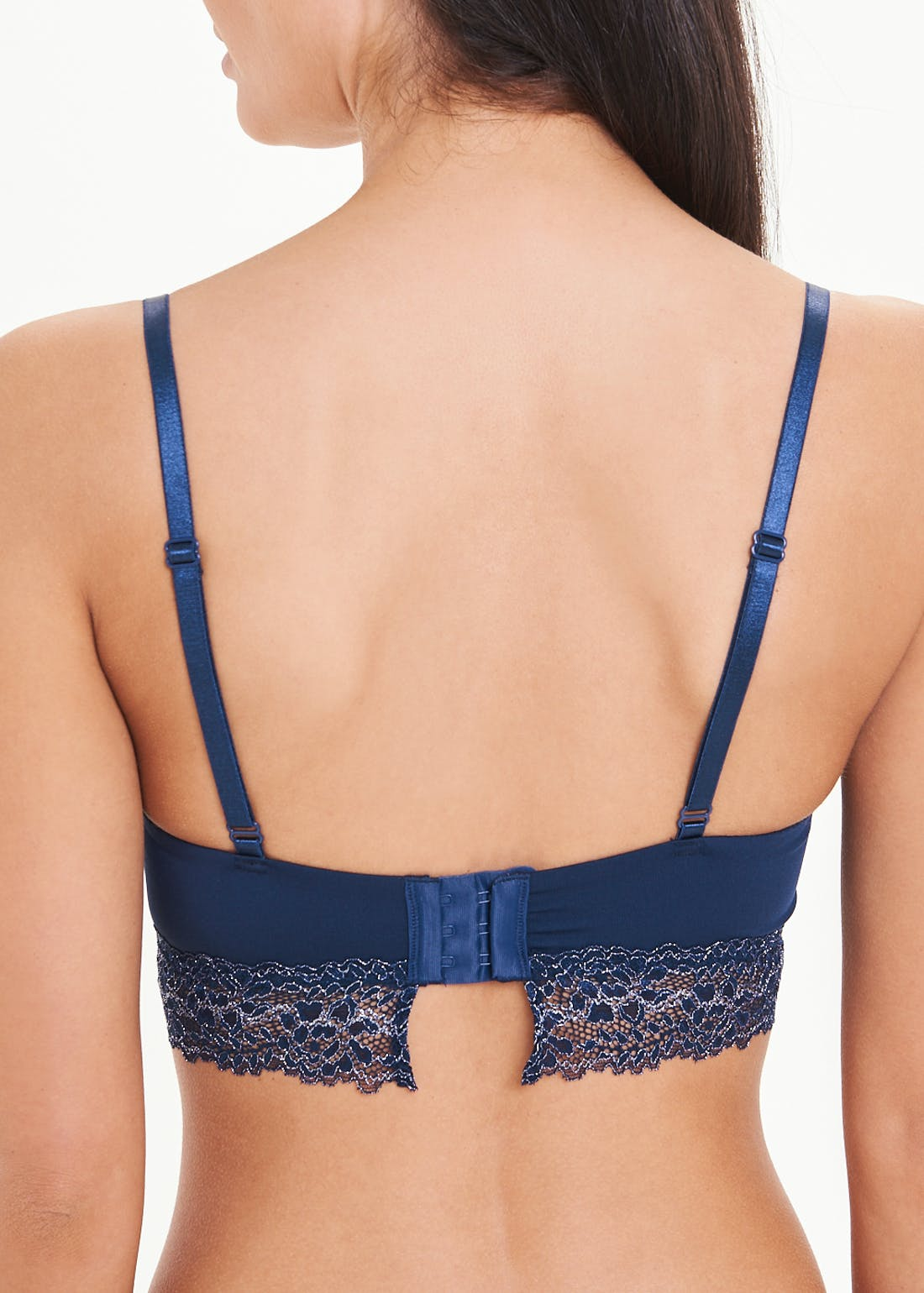 Shimmer Lace Trim Non-Wired Bra