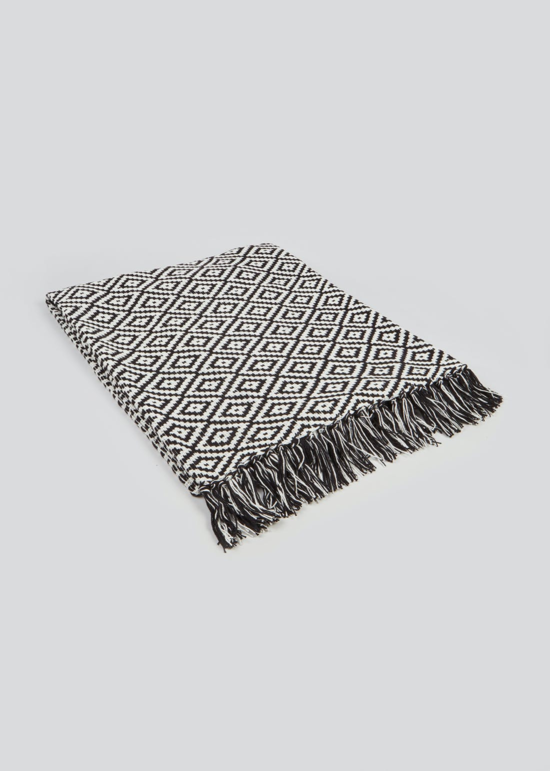 Geo Print Cotton Throw (150cm x 130cm)