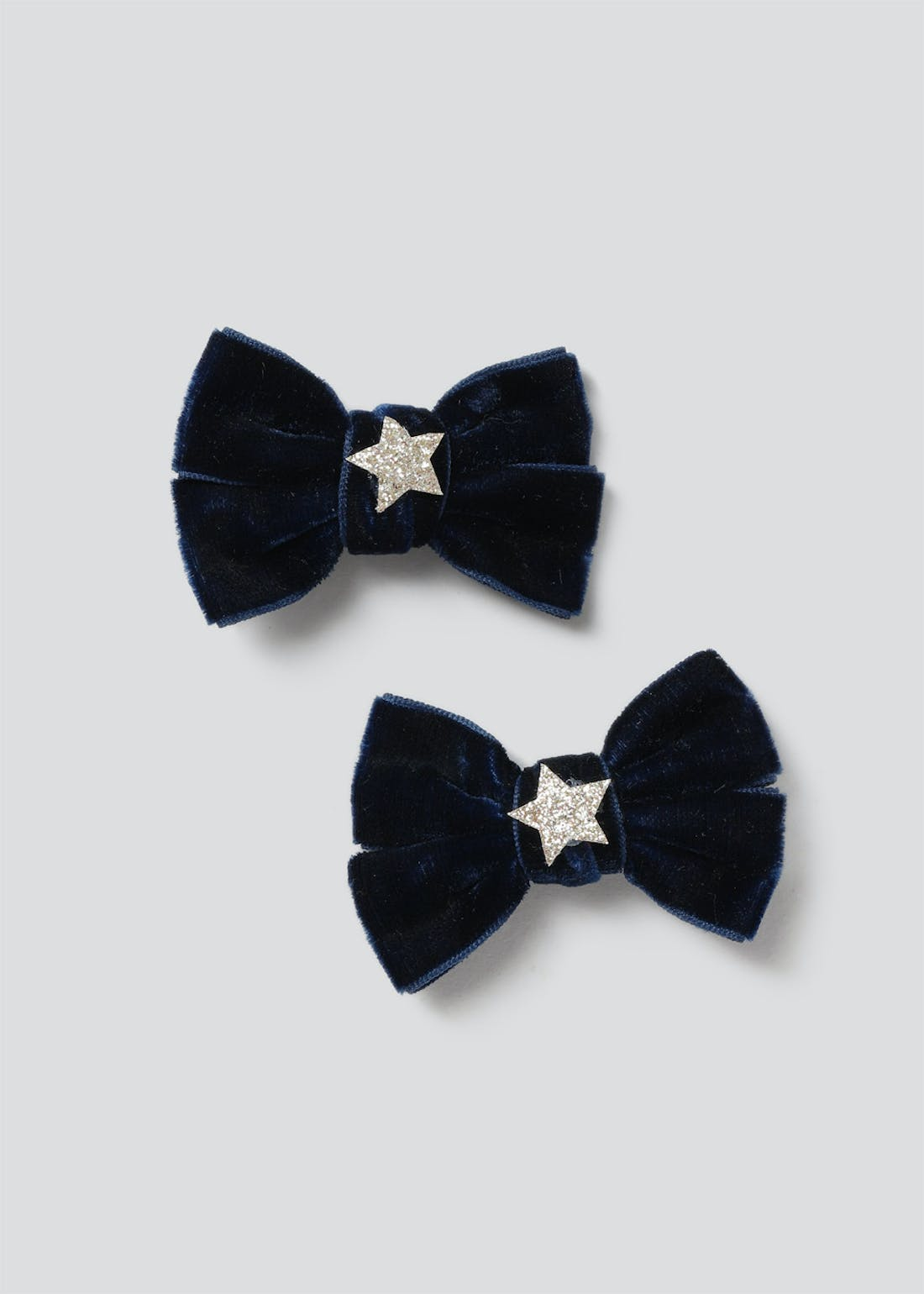 Girls Navy Bows Clips