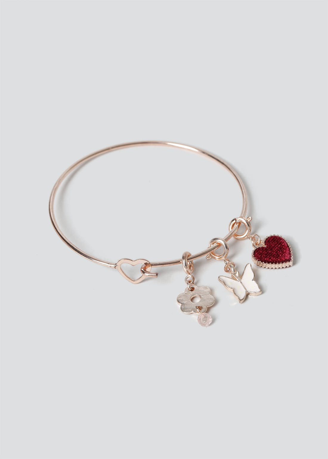 Girls Rose Gold Charm Bracelet
