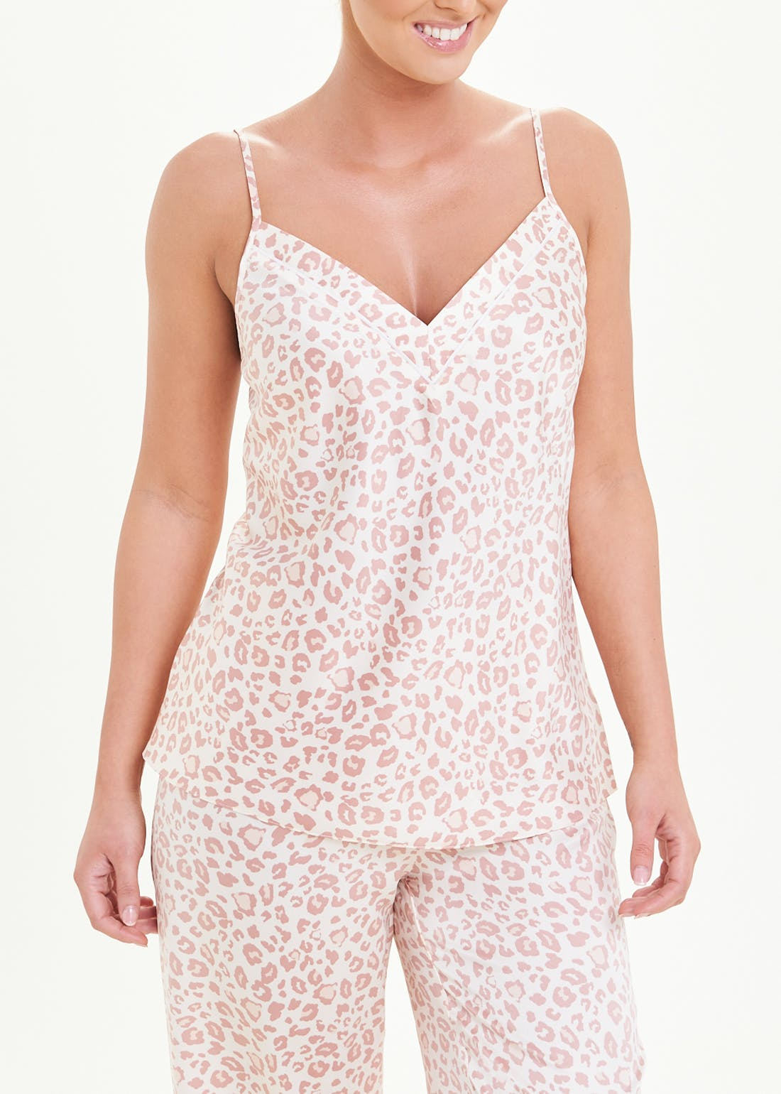 Satin Animal Print Cami Pyjama Top