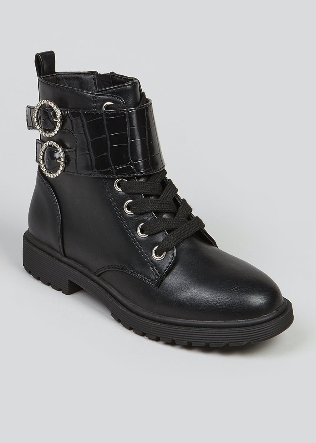 Girls Black Ankle Boots (Younger 10-Older 5)