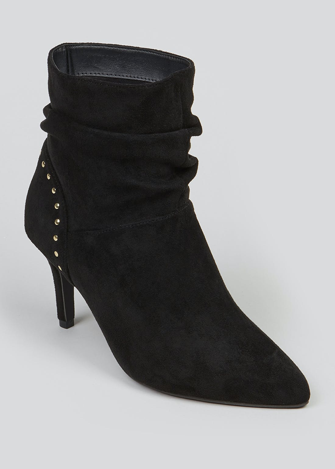 Wide Fit Black Slouch Stiletto Boots