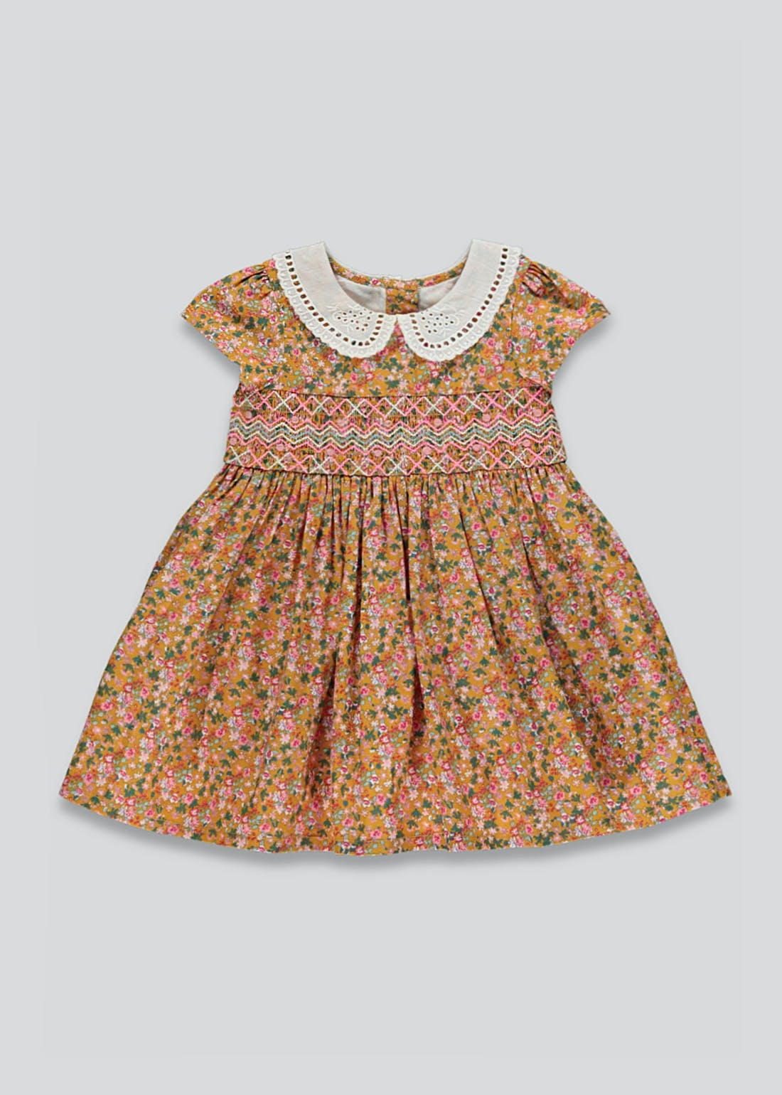 Girls Floral Smocked Prom Dress (9mths-6yrs)