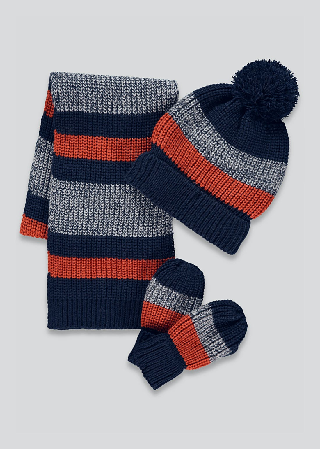 Boys 3 Piece Hat Scarf & Gloves Set (3-6yrs)