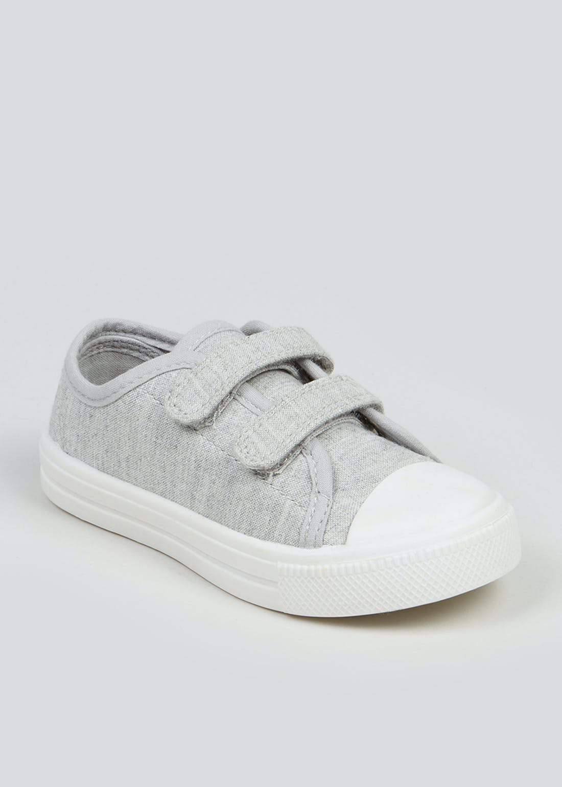 Kids Grey Double Strap Trainers (Younger 4-12)