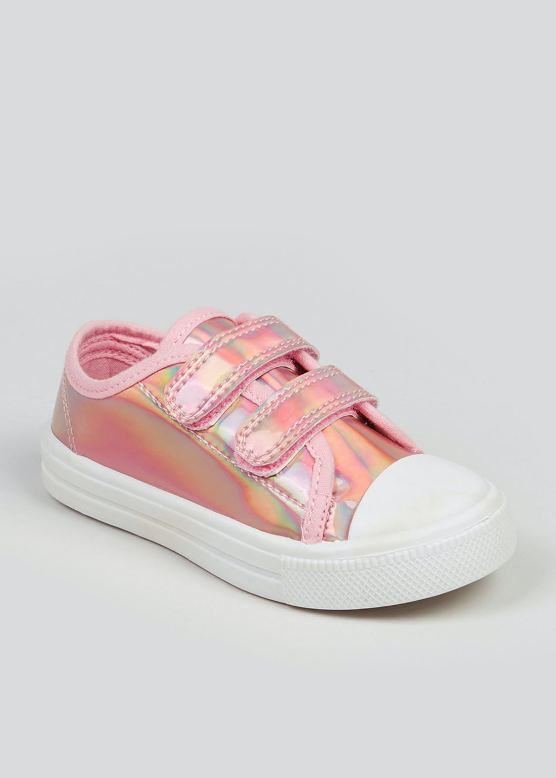 Girls Pink High Shine Trainers (Younger 4-12)