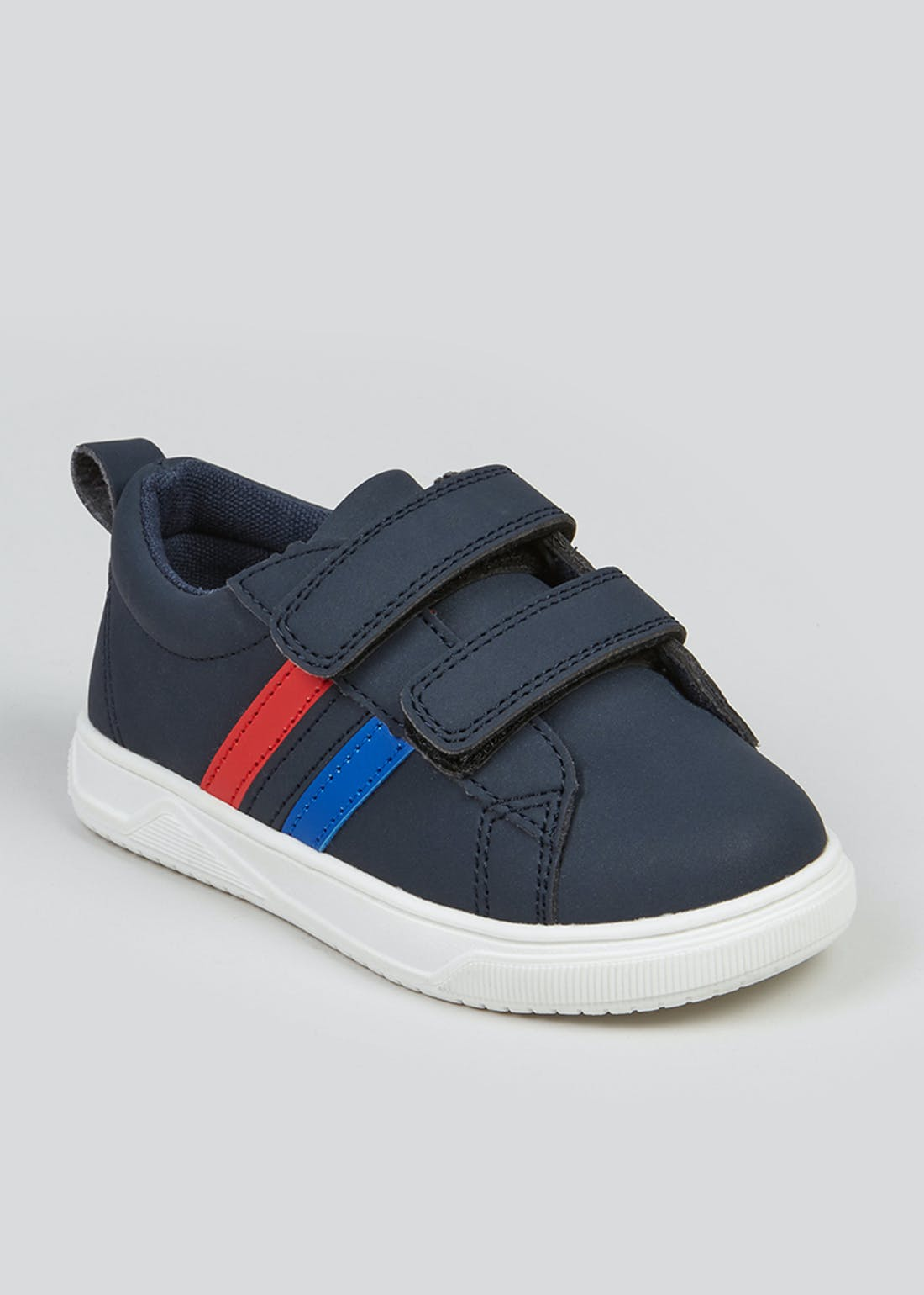 Kids Navy Stripe Trainers (Younger 4-12)