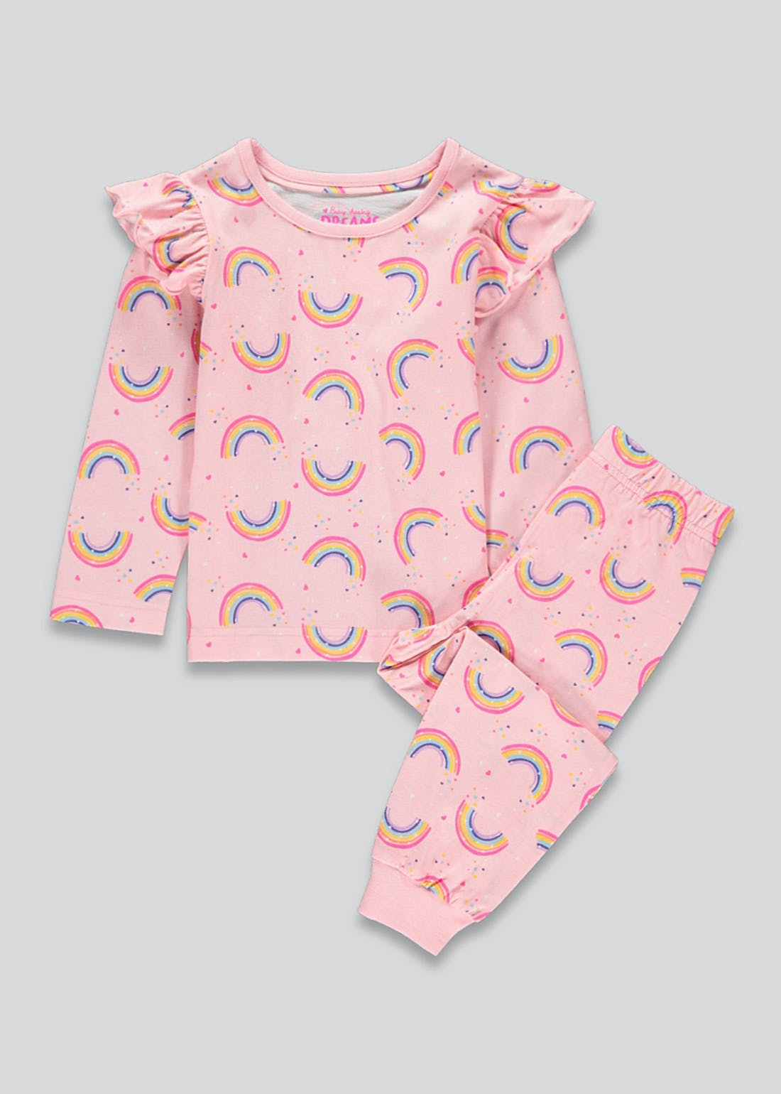 Girls Rainbow Frill Pyjama Set (9mths-5yrs)