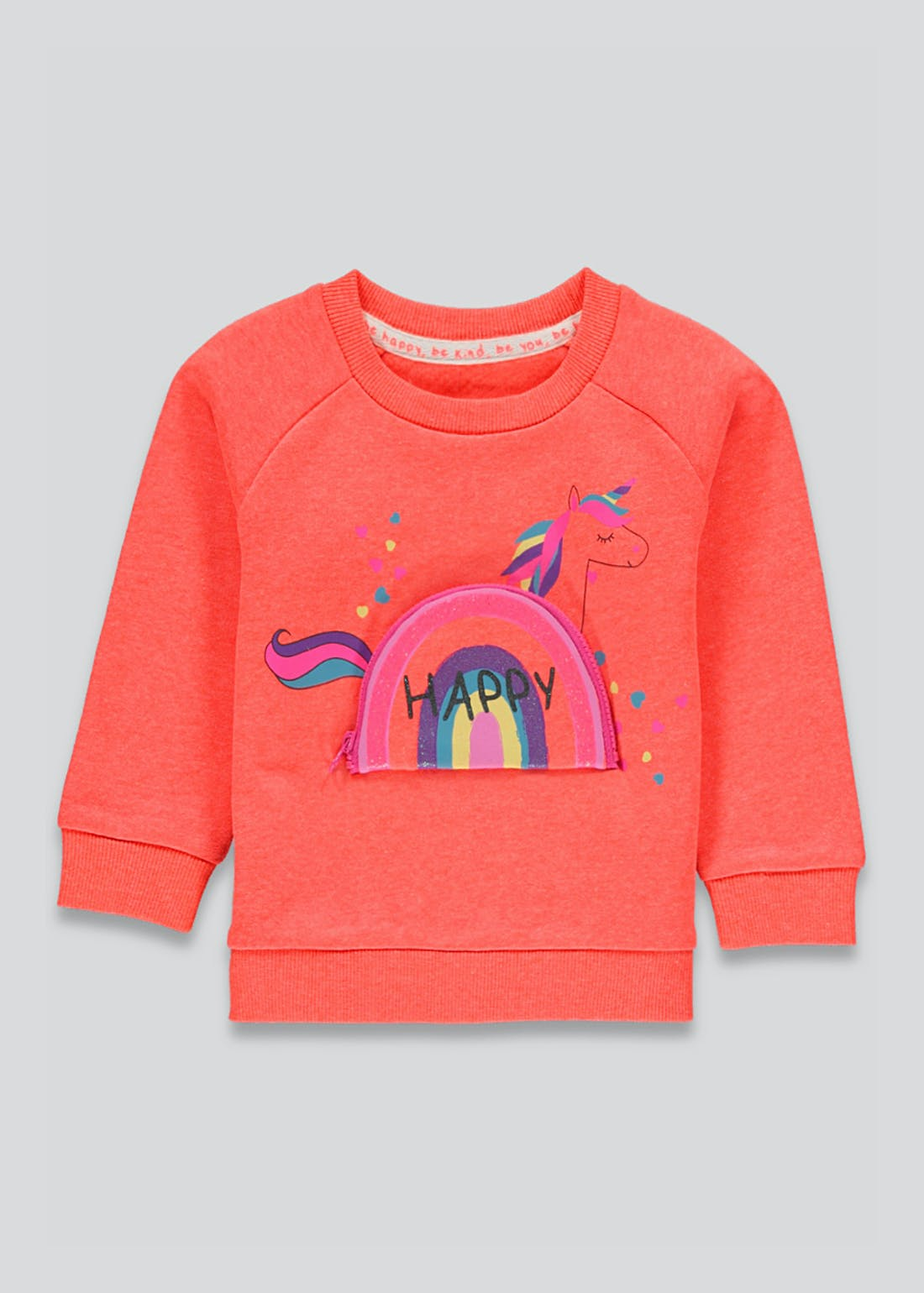 Girls Unicorn Rainbow Sweatshirt (9mths-6yrs)