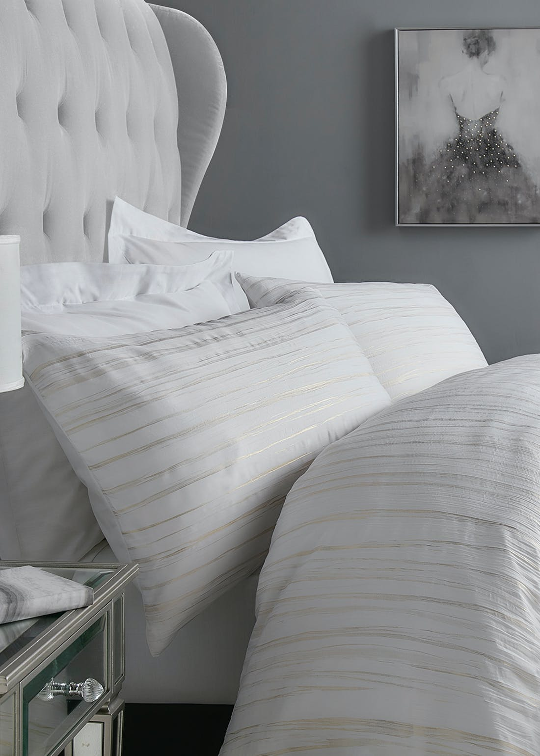 Metallic Crinkle Duvet Cover
