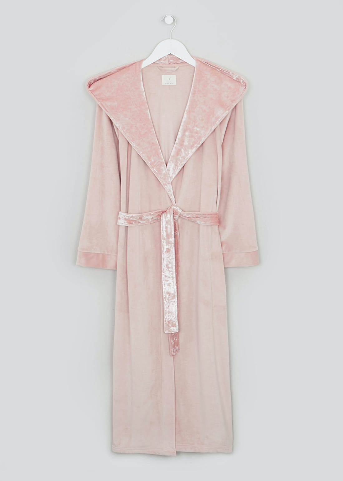 Velour Trim Dressing Gown