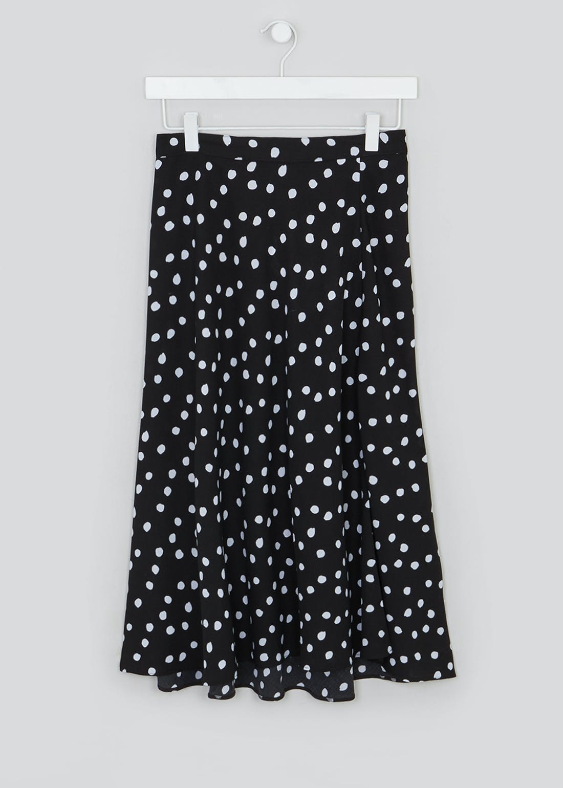 Papaya Petite Polka Dot Flared Midi Skirt
